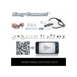 CONNECT - Prolongateur 1 m - (2 x  1,5mm²- H07RN-F)- Fil Noir