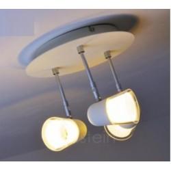 Plafonnier Blanc Arles, LED Intégrée, 3x 3W, IP20, 230V, Classe I