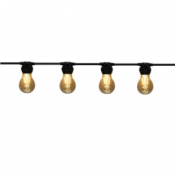 Guirlande LINEAIRE -   6,0 m - 12 x E27/A60 - Filament Led - 2W - 2200°K -