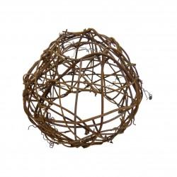 Guirlande LINEAIRE -   6,0 m - 12 x E27/G45 - Filament Led - 1W - 2200°K - Boule Osier