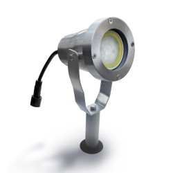 Projecteur AVANT-GARDE - Alu brossé - IP67 - MR20 - LED 4W - Warm