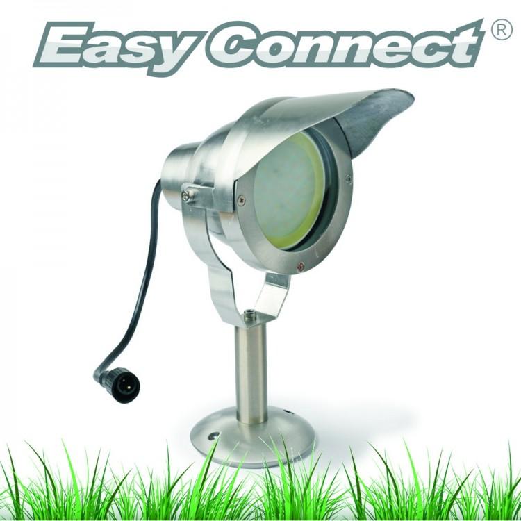 Projecteur OPTIMUM 30 + Socle - Alu brossé - IP67 - MR30 - LED 10 W - Warm