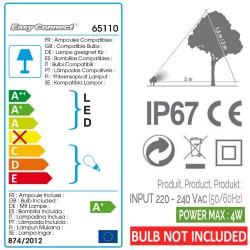 Kit 3 Projecteurs Plastique Noir IP67 - GU10 - Sans ampoule