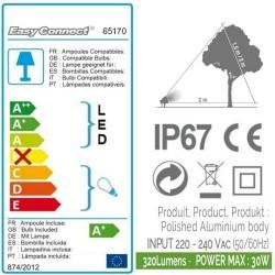Kit 3 Projecteurs Alu Brossé IP67 - MR20 - LED 4W - Warm