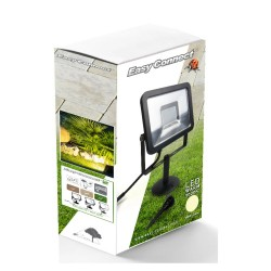 Projecteur LED Flood fonte d'Aluminium et diffuseur polycarbonate 3000K° 30 W 3000 Lumens 65928