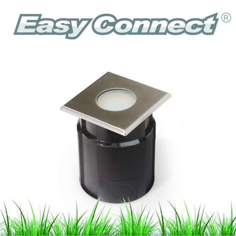 Encastré béton carré 12x12 cm (INOX 316L) - IP65/67 - MR20 - LED 4W - Warm