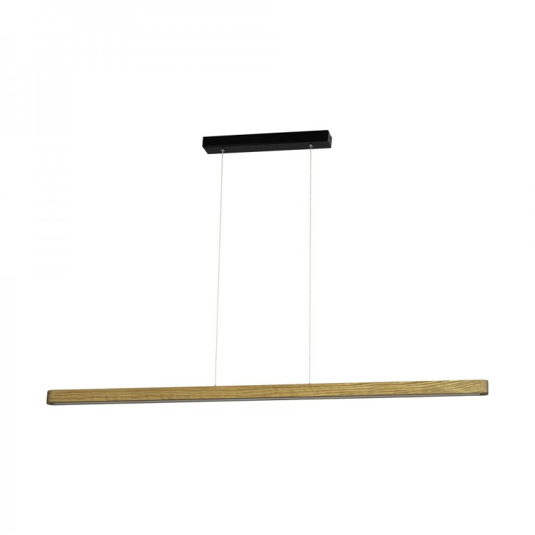 Suspension LED en Pin teinté Brun, 1610lm, 3000K, FORESTIER