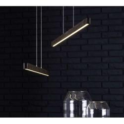 Suspension LED en Pin teinté  Noyer, 12V intégré, 16W, FORESTIER